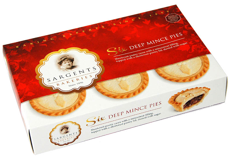 Sargents Deep Filled Mince Pies