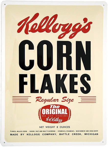 Metal Sign ´Kellogg´s Corn Flakes´ Package
