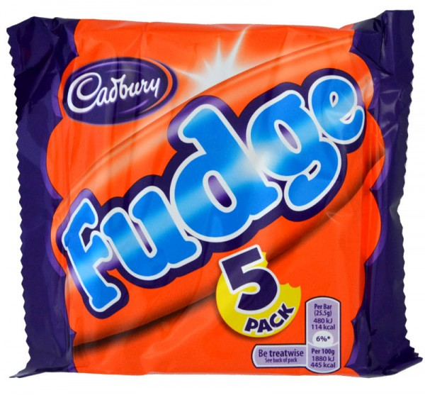 Cadbury Fudge 5 Bars Multipack