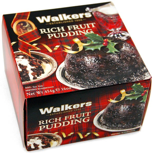 Walkers Rich Fruit Christmas Pudding 454g