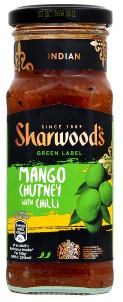 Sharwoods Green Label Mango Chutney Chilli 360g