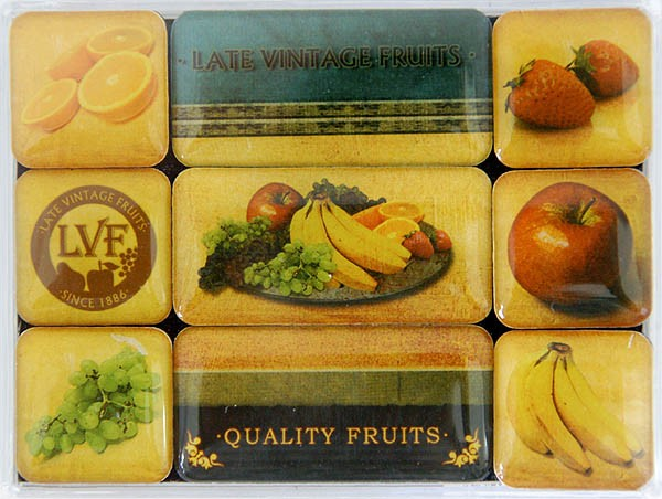 Magnet-Set 9tlg. ´Late Vintage Fruits´