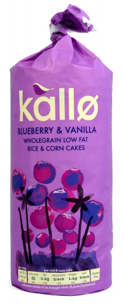 Kallo Blueberry & Vanilla Rice & Corn Cakes 131g