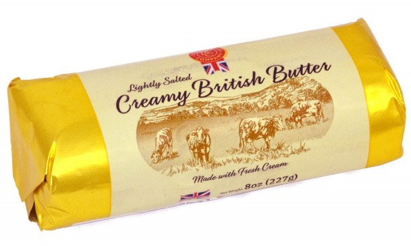 Coombe Castle Creamy British Butter 227g, Lightly Salted