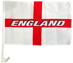 England Car Flag with Writing