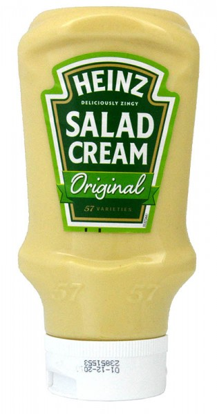 Heinz Salad Cream Original Squeezy Top Down 425g - Salatcreme