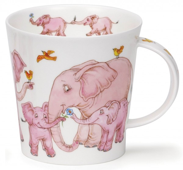 Dunoon Cairngorm Tickled Pink Elephant by Cherry Denman