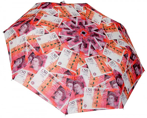 50 Pound Note Umbrella - Regenschirm
