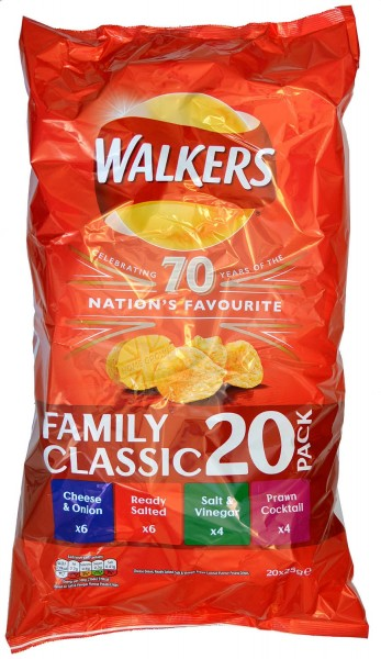 Walkers 20er-Pack Variety Chips