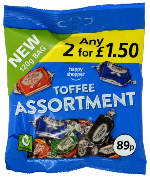 Happy Shopper Toffee Assortment 120g
