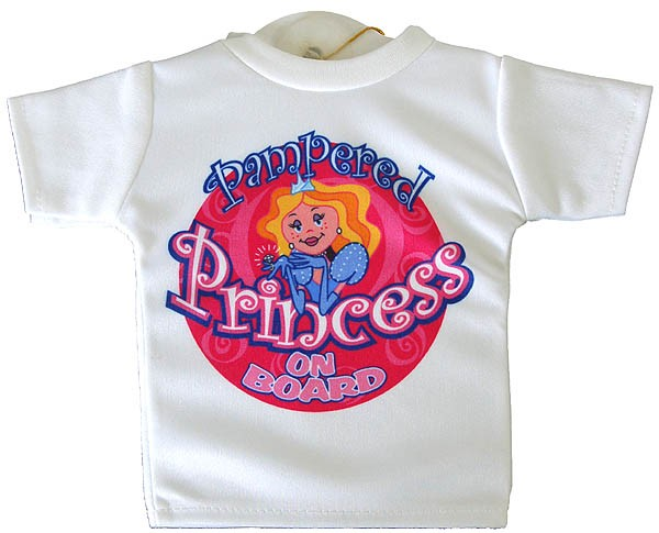 Mini T-Shirt Sign ´Pampered Princess On Board´