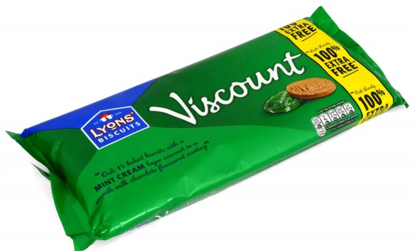 Lyons Viscount Original Mint Cream Biscuits 196g
