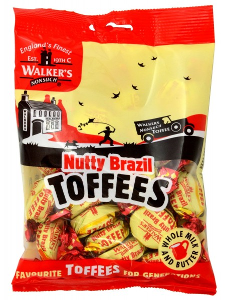 Walkers Nonsuch Nutty Brazil Toffees 150g