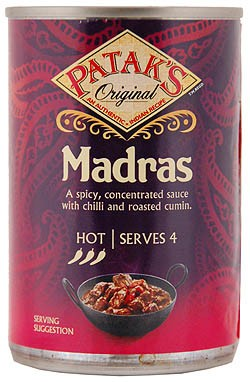 Patak´s Madras Sauce Can