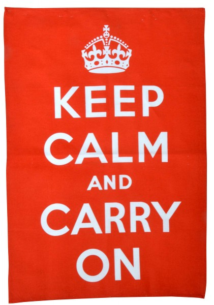 Keep Calm And Carry On Tea Towel Geschirrtuch
