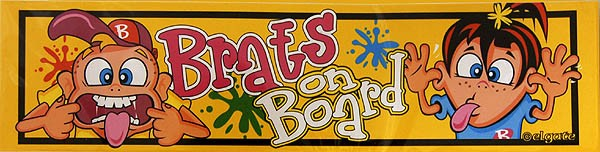 Sticker Brats on Board 20 x 5 cm
