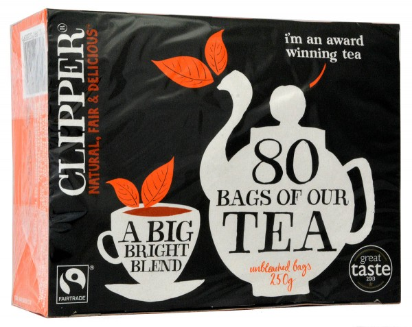 Clipper 80 Fairtrade Tea Bags 250g