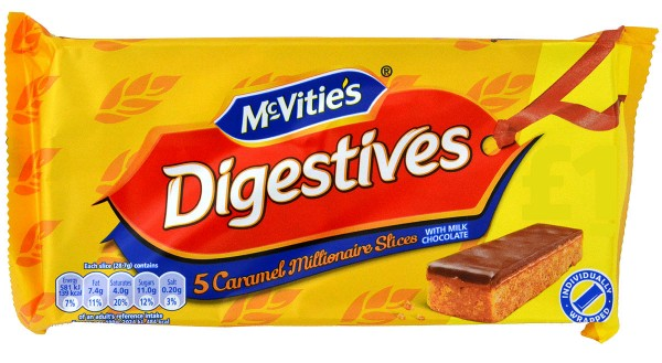 McVities Digestives Millionaire Slices 109g