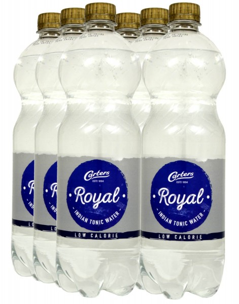 Carters Royal Indian Tonic Water Low Calorie 1 Liter - 6x
