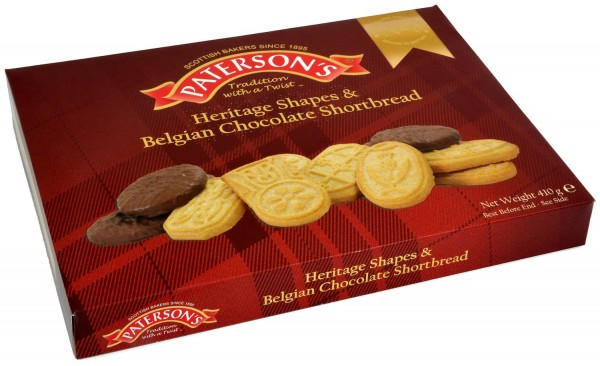 Patersons Heritage Shapes & Belgian Chocolate Shortbread 410g