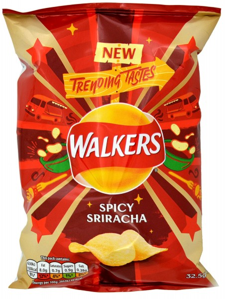 Walkers Crisps Spicy Sriracha, Tüte 32,5g