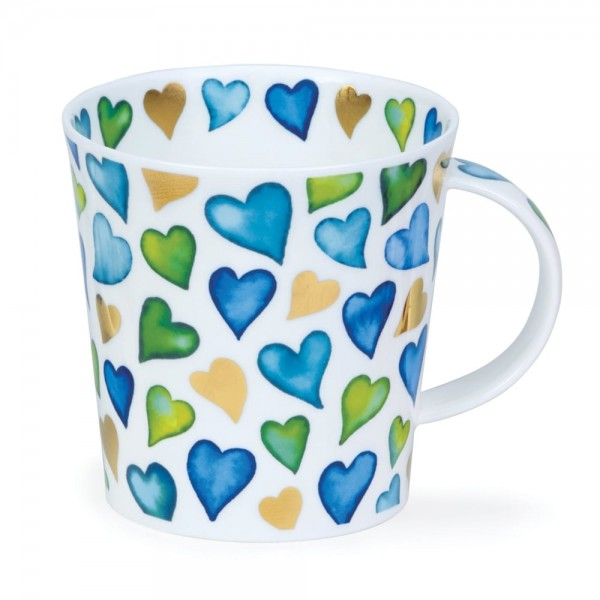 Dunoon Cairngorm Lovehearts Blue by Caroline Bessey