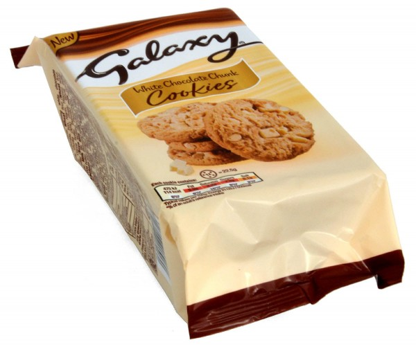 Galaxy White Chocolate Chunk Cookies 180g