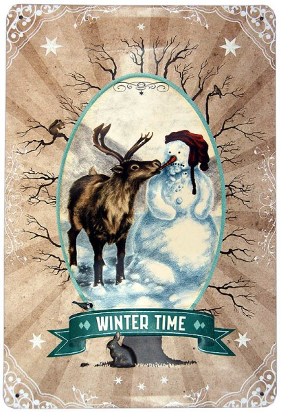 Metal Sign ´Winter Time´ 20 x 30cm