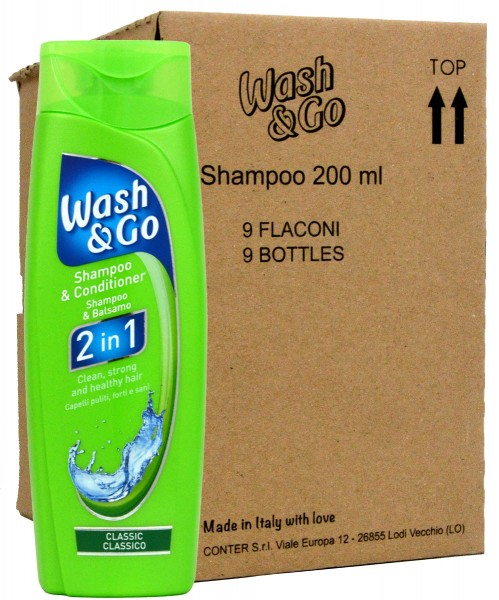 Wash & Go 2in1 Classic Care Shampoo & Conditioner - 9x