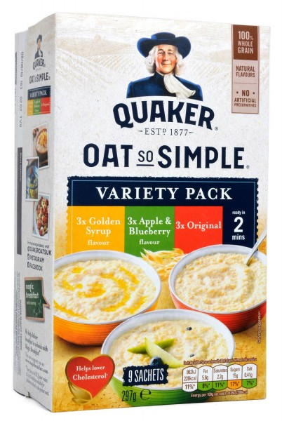 Quaker Oats So Simple Porridge Variety 9-pack