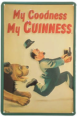 Metal Sign My Goodness My Guinness Lion