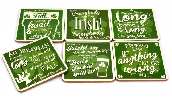 Insanely Irish Coaster Set 6-tlg.