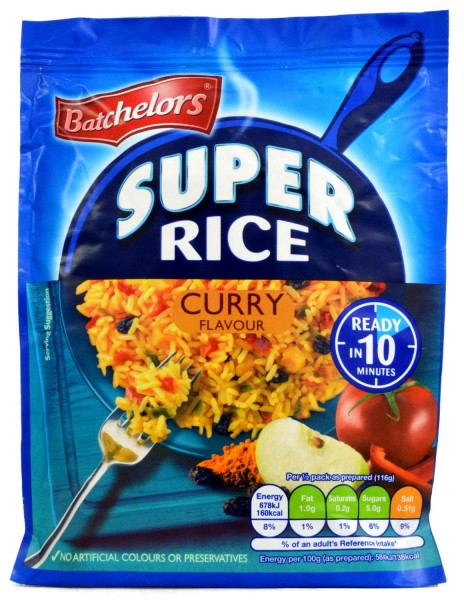 Batchelors Savoury Super Rice Curry Flavour 90g