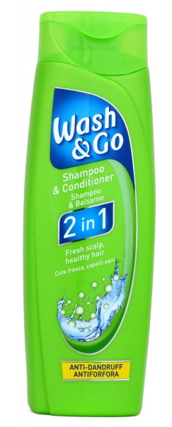 Wash & Go 2in1 Anti-Dandruff Schuppen-Shampoo & Conditioner