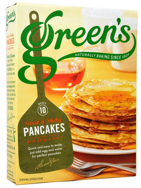 Greens Pancakes Mix with Golden Syrup 305g