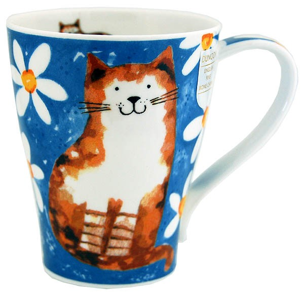 Dunoon Solway Daisy Cats Blue