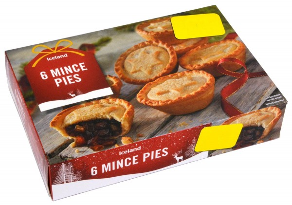 Iceland 6 Mince Pies MHD 20.12.2019
