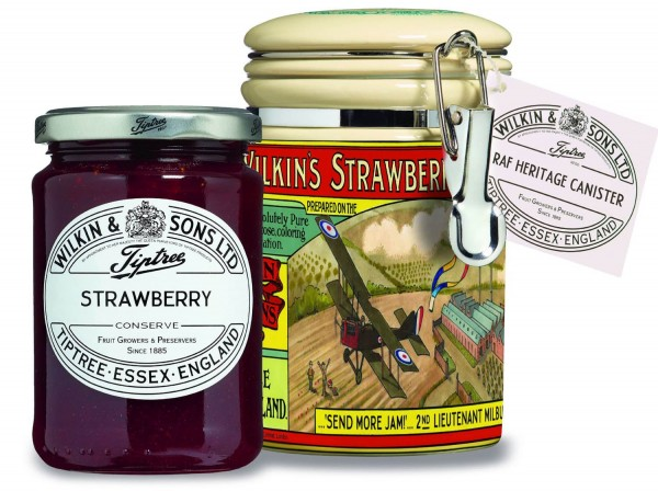 Wilkin & Sons Strawberry Conserve 340g Heritage Container RAF