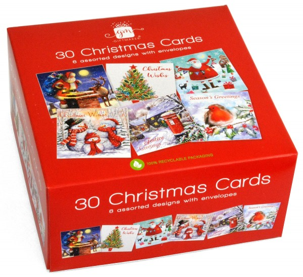 30 Christmas Cards Bumper Pack