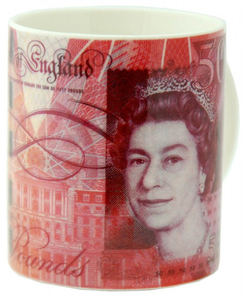 50 Pound Note Fine Bone China Boxed Mug