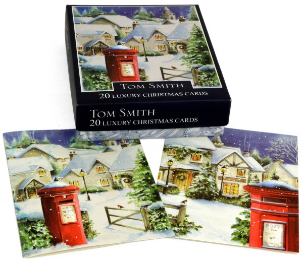 Tom Smith 20 Christmas Cards Postbox