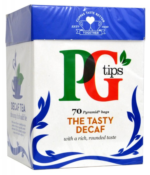 PG Tips Decaf 70 Teebeutel