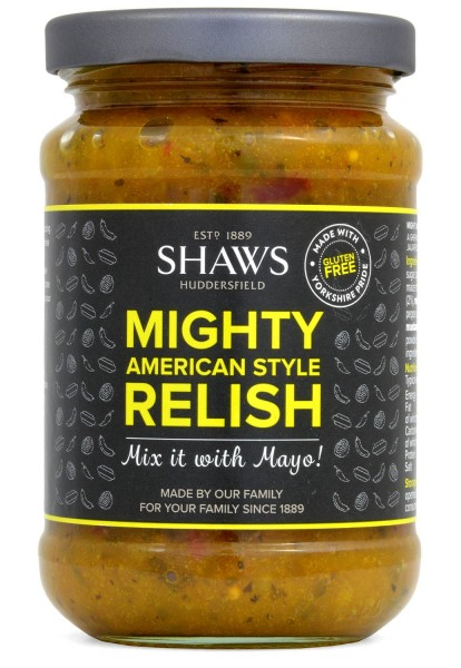 Shaws Mighty American Style Relish 300g