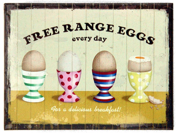 Magnet ´Free Range Eggs Every Day´