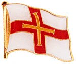 Guernsey Flag Shaped Pin