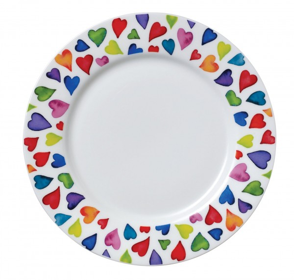Dunoon Plate Warm Hearts by Caroline Bessey