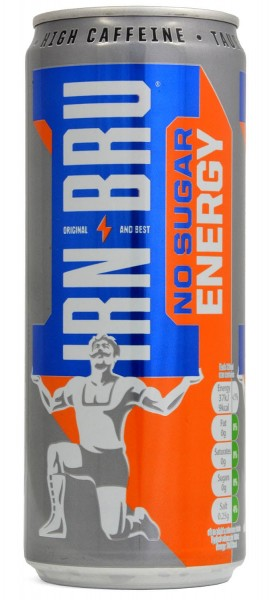 Barr Irn-Bru No Sugar Energy 330ml