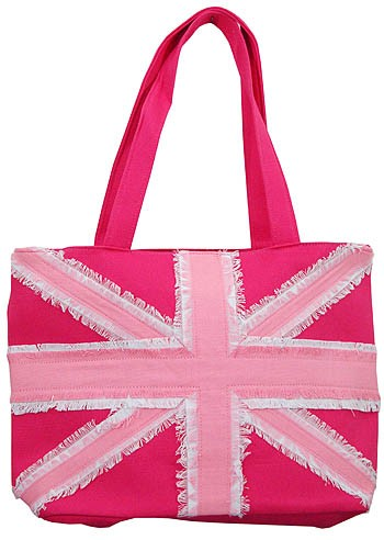 Union Jack Pink Cotton Canvas Handbag