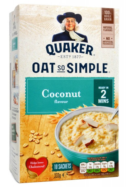 Quaker Oat So Simple Coconut Porridge 10 Sachets 333g