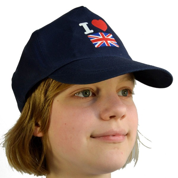 Baseball Cap I Love Great Britain Blue